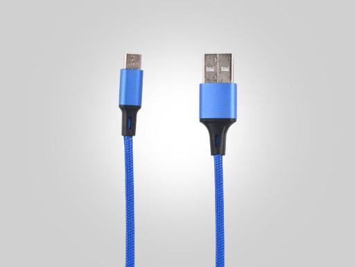 Blue Knitting of USB2.0 AM TO MK Aluminum Alloy External Die OD3.4