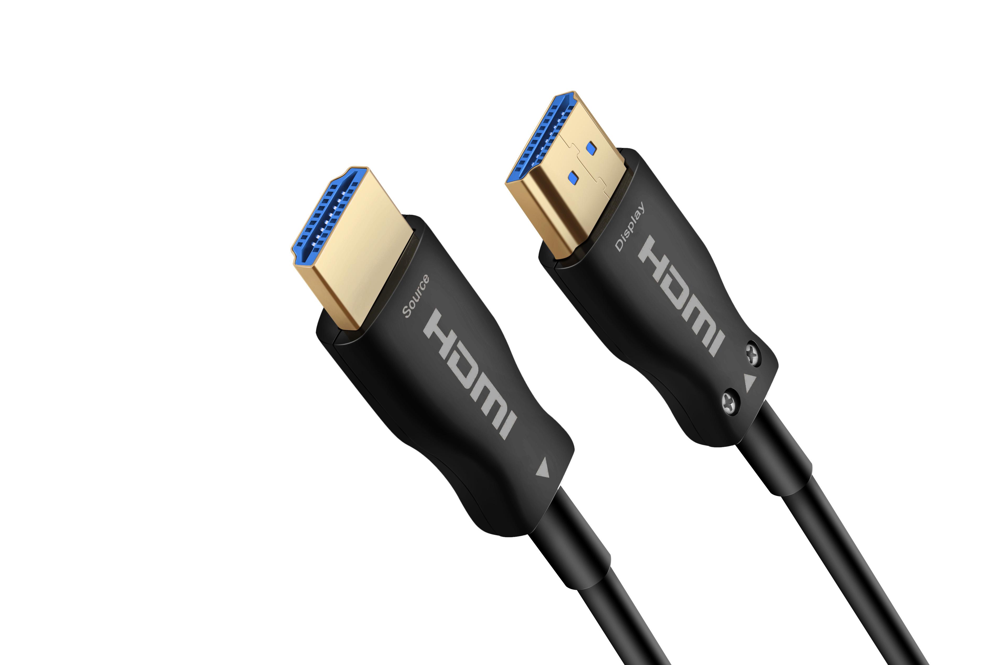 HDMI 2.0  4K有源光纤 黑色蓝芯